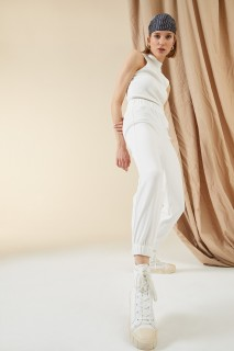 Woman OFF WHITE Trousers-M