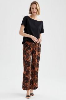 Woman ORANGE Trousers-36