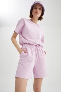 Woman PINK Short Sleeve T-Shirt-L