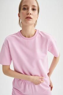 Woman PINK Short Sleeve T-Shirt-XL
