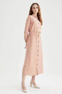Woman ROSE Long Sleeve Woven Dress-38