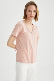 Woman ROSE Short Sleeve T-Shirt-L