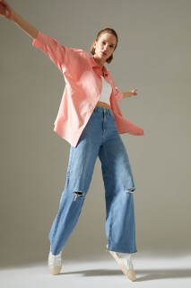Woman SALMON Long Sleeve Shirt-L