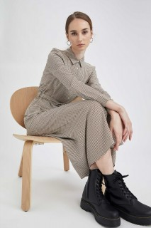 Woman SAND Long Sleeve Woven Dress-42