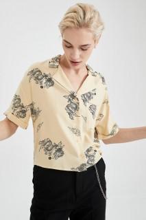 Woman STONE Short Sleeve Shirt-XS