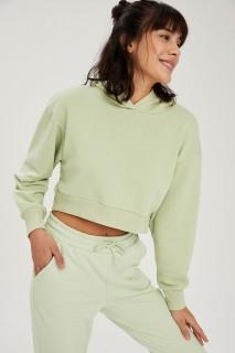 Woman Sweat Shirt LT.GREEN- XXS
