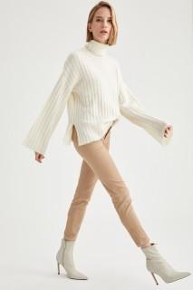 Woman Trousers BEIGE- 48