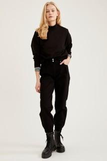 Woman Trousers BLACK- 36