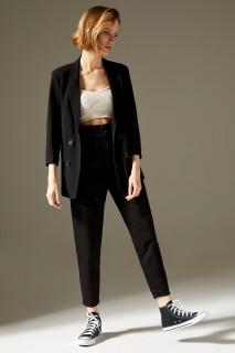 Woman Trousers BLACK- 40