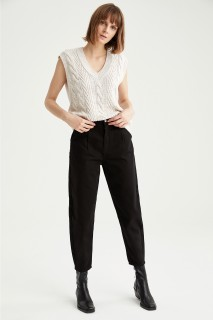 Woman Trousers BLACK- 44