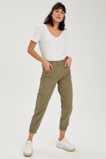 Woman Trousers Khaki- 36