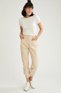 Woman Trousers LT.BEIGE- 36
