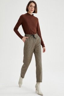 Woman Trousers LT.BROWN- S
