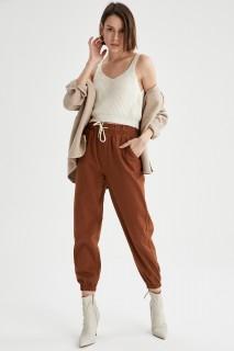 Woman Trousers ORANGE- 38