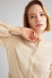 Woman VISON Long Sleeve Woven Dress-36