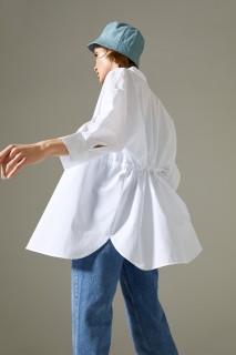 Woman WHITE Long Sleeve Shirt-S