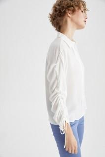 Woman WHITE Long Sleeve Shirt-XXL