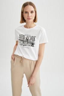 Woman WHITE Short Sleeve T-Shirt-S