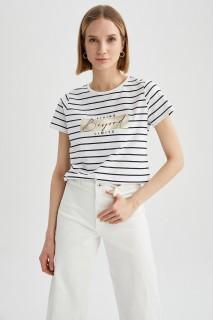 Woman WHITE Short Sleeve T-Shirt-XL