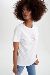 Woman WHITE Short Sleeve T-Shirt-XXL