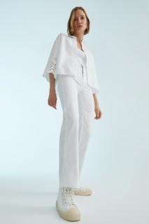Woman WHITE Trousers-36