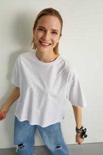 Woman WHITES short Sleeve T-Shirt-L