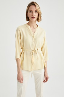 Woman YELLOW Long Sleeve Shirt-L
