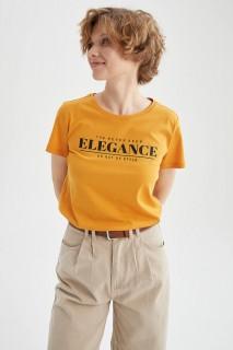 Woman YELLOW Short Sleeve T-Shirt-3XL