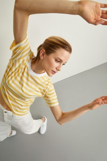 Woman YELLOW Short Sleeve T-Shirt-XXL