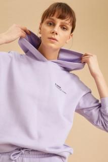 Women's Knitted Sweat Shirt LT.LILAC -XXS