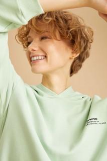 Women's Knitted Sweat Shirt MINT -M