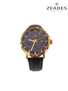 Zeades Watch/Gents/Blu Dial/Gld Case/Blu Leather Strap