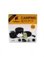 Camping cooking pot set