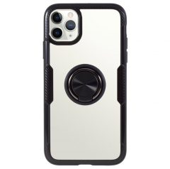 Cover with transparent ring with elegant black frame iPhone 11 Pro