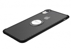 IPhone carbon fiber with silver ring built in magnet for car holder  xs