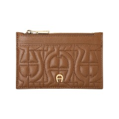 Toffee Brown Leather Genoveva Card Case 135 x 90 x 3
