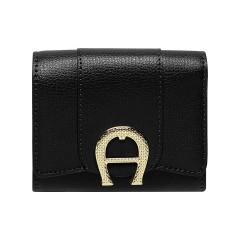 Black Leather Verona Ladies Purse 100 x 80 x 30
