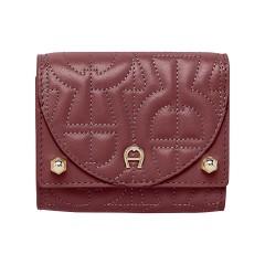 Burgundy Leather Diadora Ladies Purse 105 x 90 x 30