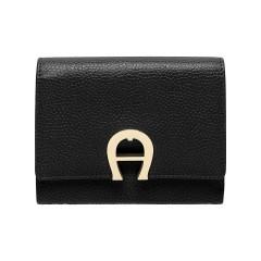 Black Leather Genoveva Ladies Wallet 125 x 95 x 25