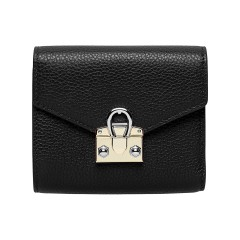 Black Leather Mina  Ladies Wallet 120 x 100 x 25