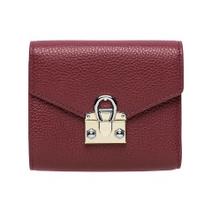 Burgundy Leather Mina  Ladies Wallet 120 x 100 x 25