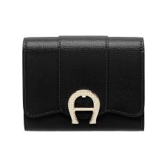 Black Leather Verona  Ladies Wallet120 x 100 x 25