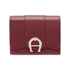 Burgundy Leather Verona  Ladies Wallet 120 x 100 x 25