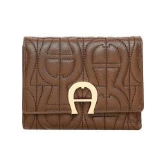 Coffee Brown Leather Genoveva  Ladies Wallet 120 x 95 x 25