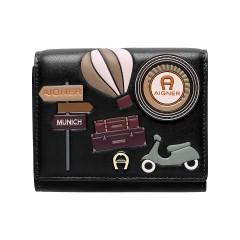 Black Leather Fashion Ladies Wallet 125 x 120 x 30