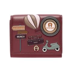Burgundy Leather Fashion  Ladies Wallet 125 x 120 x 30
