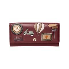 Burgundy Leather Fashion Ladies Wallet 200 x 105x 30