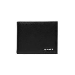 Black Leather Saffiano Gent Wallet 90 x 110 x 10