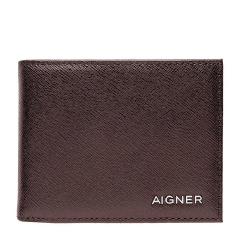 Java Brown Leather Saffiano Gent Wallet 90 x 110 x 10