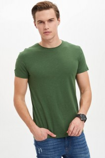 Defacto Men Knitted Dark Green GN512 T-Shirt -Xsmall